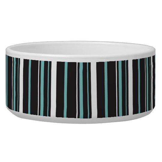 Simple elegant black blue striped stripes dog water