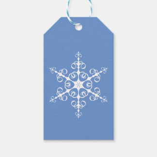 Simple Elegant Blue and White Snowflake