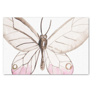 Simple & Elegant Blush Butterfly Tissue Paper