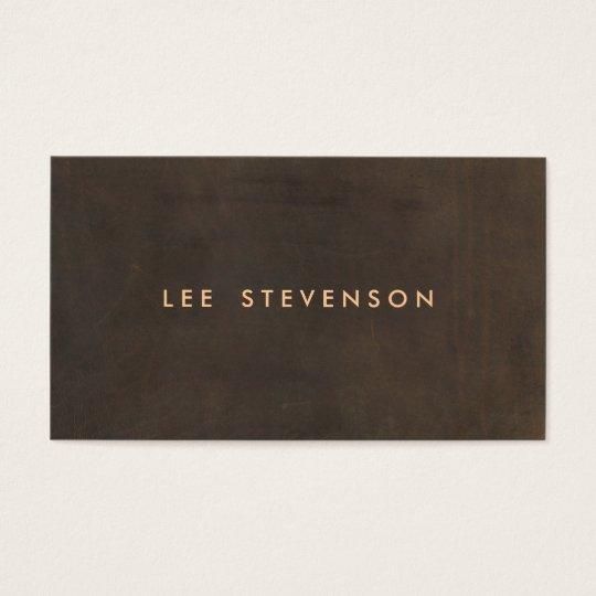 Simple Elegant Brown Suede Look Gentleman's Business Card