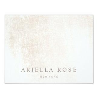 Simple Elegant Brushed White Marble 11 Cm X 14 Cm Invitation Card