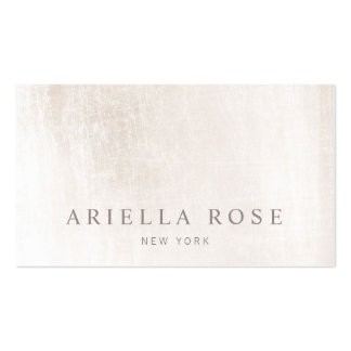 Simple Elegant Brushed White Marble Professional Pack Of Standard Business Cards