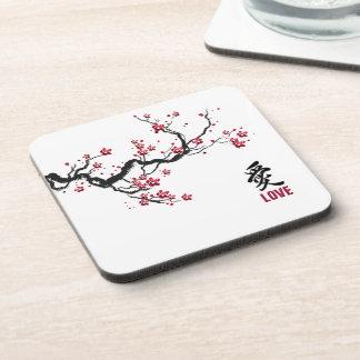 Simple & Elegant Cherry Blossom Love | Coaster