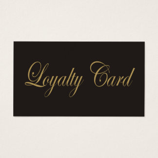 Simple Elegant Chic Dark Grey Gold Loyalty Card