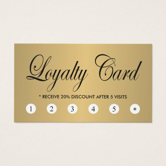Simple Elegant Chic FAUX Gold Loyalty Card