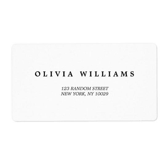 Simple Elegant | Classic Wedding Address Label
