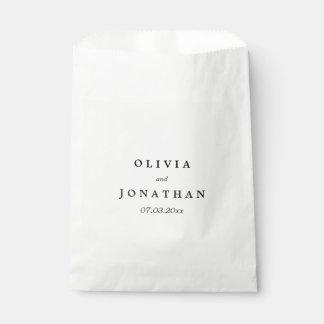 Simple Elegant | Classic Wedding Favor Bag