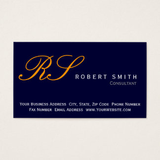 Simple Elegant Consultant Business Card