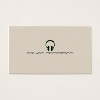 Simple & Elegant DJ Business Card