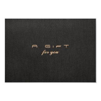 "Simple Elegant Faux Linen Gift Certificate 3.5"" X 5"" Invitation Card"
