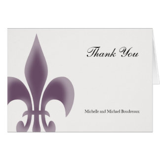 Simple Elegant Fleur de Lis Thank You Greeting Card