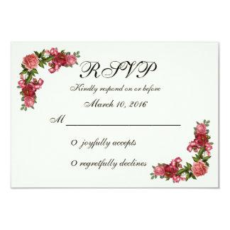 Simple Elegant Floral RSVP Card