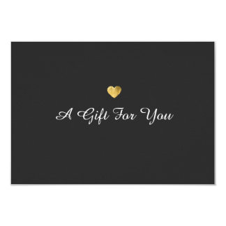 Simple Elegant Gold Heart Gift Certificate 9 Cm X 13 Cm Invitation Card