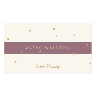 Simple Elegant Gold Star Event Planner Cream White Pack Of Standard Business Cards