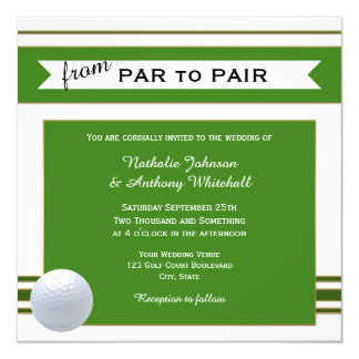 Golf Wedding Invitations & Announcements | Zazzle.co.uk