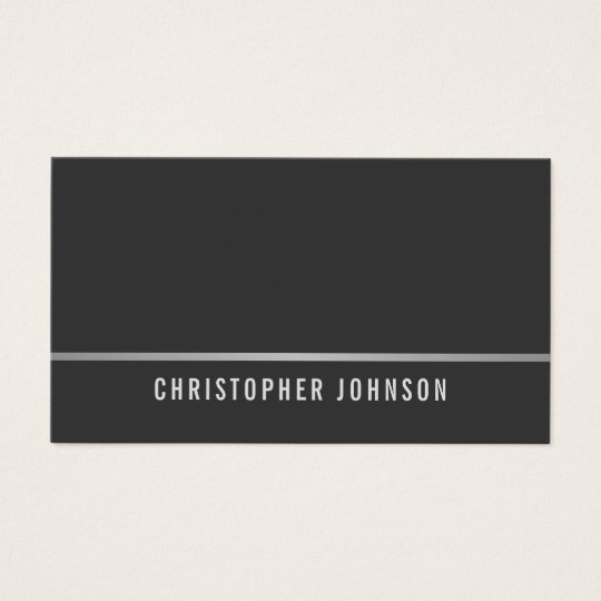 Simple Elegant Grey Faux Silver Line Consultant Business Card