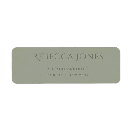 SIMPLE ELEGANT GREY TYPOGRAPHY TEXT ONLY ADDRESS RETURN ADDRESS LABEL
