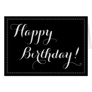 Elegant Happy Birthday Greeting Cards   Zazzle.co.uk