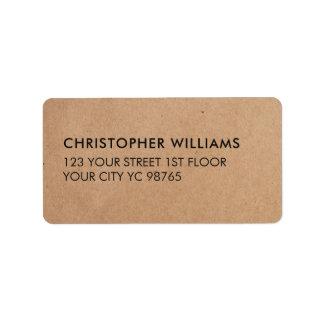 Simple Elegant Kraft Paper Business Address Label