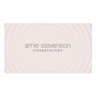 Simple Elegant Light Pink Beauty Consultant Business Cards