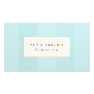 Simple Elegant Light Turquoise Blue Striped Pack Of Standard Business Cards