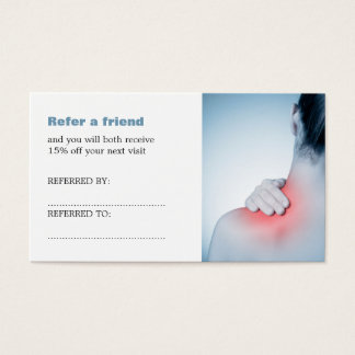Simple Elegant Massage Therapist Referral Card