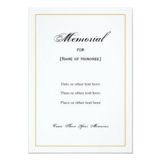 Simple Elegant Memorial Invitation