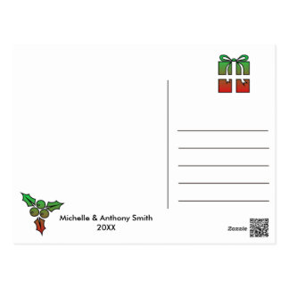 Simple Elegant Merry Christmas Postcard