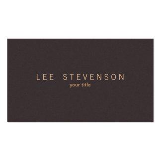 Simple Elegant Minimalistic Solid Brown Suede Look Pack Of Standard Business Cards