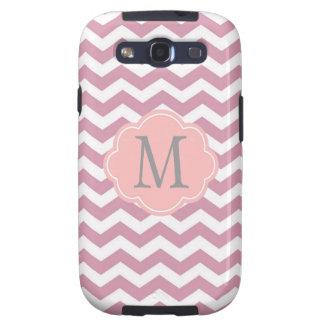 simple, elegant, modern pink chevron zigzag galaxy SIII cover