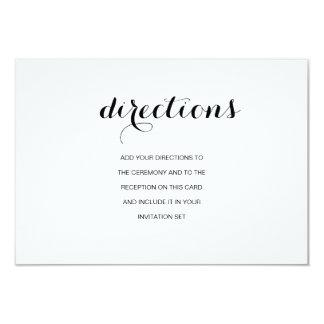 Simple Elegant Modern Wedding Directions Card 9 Cm X 13 Cm Invitation Card