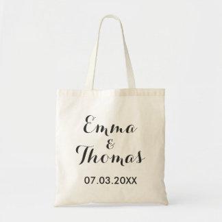 Simple Elegant | Modern Wedding Tote Bag