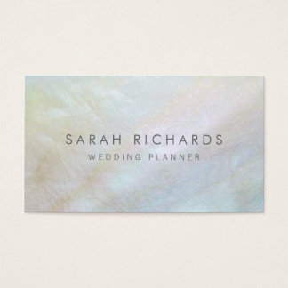 Simple Elegant Mother of Pearl Business Cards