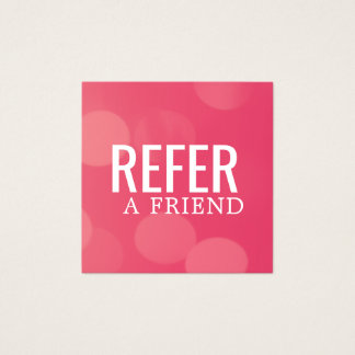 Simple Elegant Pink Pattern Referral Card