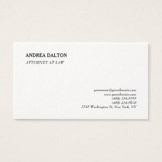 Simple Elegant Plain Professional Minimalist Business Card