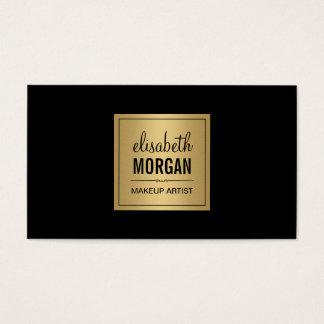 Simple Elegant Pure Black and Brushed Gold Design