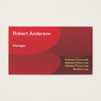 Simple Elegant Red Round Elements Business Card