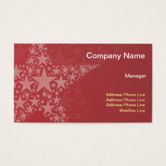 Simple Elegant Red Stars Business Card