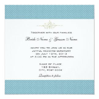 Simple, elegant royal blue wedding invitations
