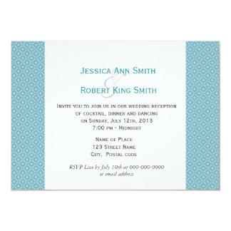 Simple, elegant royal blue wedding reception 13 cm x 18 cm invitation card