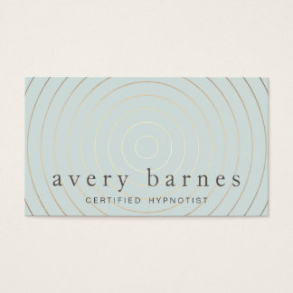 Simple Elegant Sage Blue Gold Professional Modern Business Card