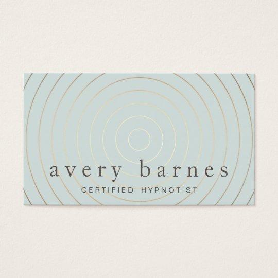Simple Elegant Sage Blue Gold Professional Modern Business Card