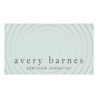 Simple Elegant Sage Blue Gold Professional Modern Pack Of Standard Business Cards