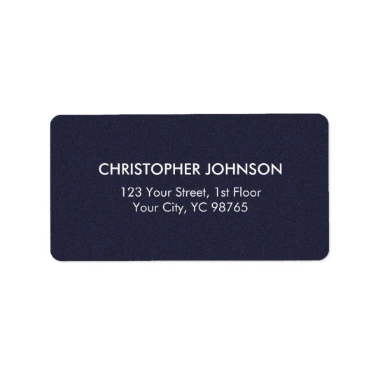 Simple Elegant Texture Blue White Masculine Address Label