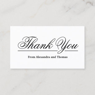 thank you business cards