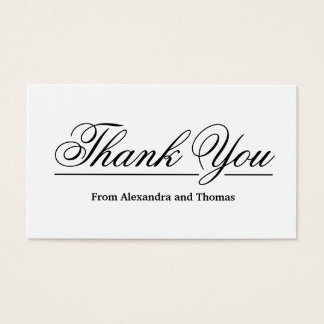 Simple Elegant Thank You Business Card