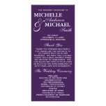 Simple Elegant Wedding Program Personalized Rack Card