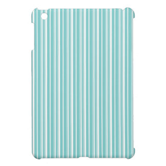 Simple elegant white and blue chic stripes cover for the iPad mini