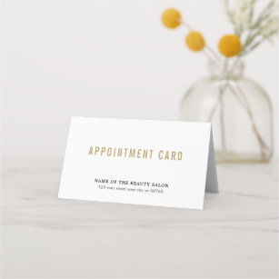 Simple Elegant White Beauty Appointment Card