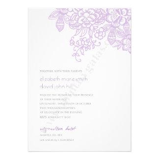 Simple Embroidered Flowers Invitation